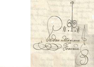 Firma y signado por Pedro Mariano Fernández